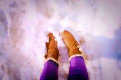 Buty na śniegu Obraz Stock