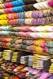 Buty na rynku w Agadir, Maroko Fotografia Royalty Free