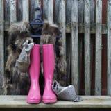 buty różowią gumę Fotografia Stock
