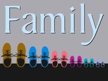 buty rodzinne royalty ilustracja