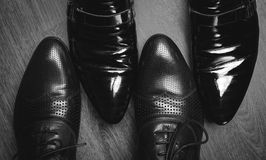 buty w bielu czarny Obraz Royalty Free