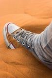 Buty w Sahara Obrazy Stock