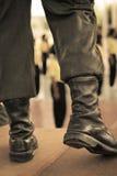 Buty wojsko mężczyzna Obrazy Stock