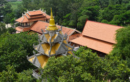Buu Long temple aerial view on the rooftop in Ho Chi Minh city, Stock Images