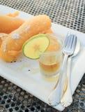 Buñuelos fritos del plátano Imagen de archivo libre de regalías