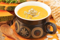 Buuetnut squash soup Royalty Free Stock Image