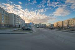 Buurt` Slavyanka ` Straat Rostov Royalty-vrije Stock Afbeelding
