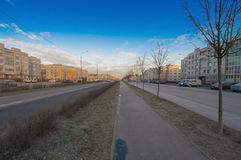 Buurt` Slavyanka ` Straat Rostov Stock Foto's