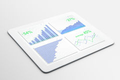Buusiness chart on digital tablet screen Royalty Free Stock Image