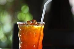 Buvant, thé froid de citron de glace Images libres de droits