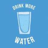 Buvez plus d'eau Image stock