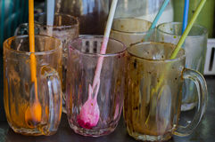 Buvez un verre Image stock