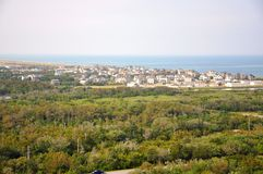 Buxton in Cape Hatteras, North Carolina. Town of Buxton in Cape Hatteras, from Cape Hatteras Lighthouse in Cape Hatteras National Seashore, on Hatteras Island Stock Photography