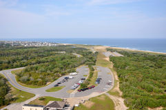 Buxton in Cape Hatteras, North Carolina. Town of Buxton in Cape Hatteras, from Cape Hatteras Lighthouse in Cape Hatteras National Seashore, on Hatteras Island Stock Photo