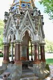 Buxton Memorial Fountain, a memorial and drinking fountain in Victoria Tower Gardens, Millbank, Westminster, London UK celebrating. The emancipation of slaves royalty free stock photo