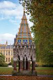 Buxton Memorial Fountain in Victoria Tower Gardens  Millbank Wes. Buxton Memorial Fountain, a memorial and drinking fountain in Victoria Tower Gardens, Millbank Stock Images