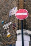 Buxton ulicy ściany sztuka Zdjęcie Stock