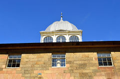 Buxton University detail. Buxton University a Grade II listed 18th century Royalty Free Stock Photo