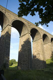 Buxton Viaduct. Buxton, Cheshire in the UK. A magnificent feat of engineering, the railway viaduct that spans Duke's Drive, to the south-east of the town royalty free stock image
