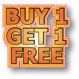 Buy 1 get 1 free royalty free illustration