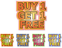 Buy 1 get 1 free vector illustration