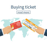 Buy airline ticket. Royalty Free Stock Photo