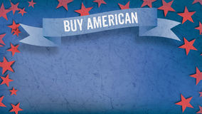 Buy American US American flag concept background Stock Photo