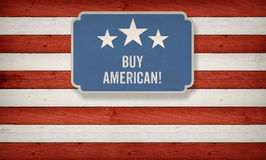 Buy American US American flag concept background Stock Image