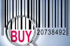 Buy on barcode Stock Photography