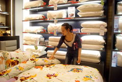 Buy bedding in shopping malls, in china Stock Images