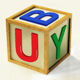 Buy Block Means Retail Shopping And Commerce. Buy Block Meaning Retail Shopping And Commerce Royalty Free Stock Images