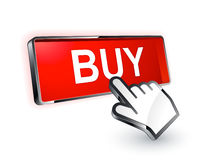 Buy button. A buy button to click on at a website Stock Photo