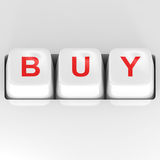 Buy Button. Computer Buy Button - 3d illustration Royalty Free Stock Photos