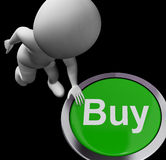 Buy Button For Commerce And Retail Purchasing Royalty Free Stock Image