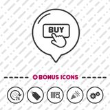 Buy Button icon. Click symbol. Eps10 Vector Royalty Free Stock Images