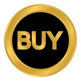 Buy button on white. Buy button isolated on white background. Vector illustration Royalty Free Stock Photo