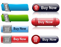 Buy buttons. Set for website Royalty Free Stock Image