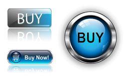 Buy buttons, icons set. Royalty Free Stock Photos