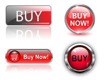 Buy buttons, icons set. Stock Photos
