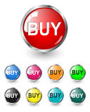 Buy buttons, icons set, vector Stock Photography