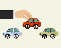 Buy car design Stock Image