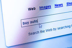 Buy the car in internet Stock Photo