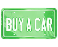Buy a Car License Plate Auto Shopping Buying Vehicle Stock Images
