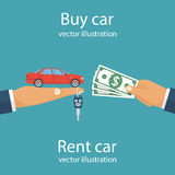 Buy car, rent concept Royalty Free Stock Photo