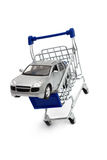 Buy Car Shopping Cart Royalty Free Stock Image