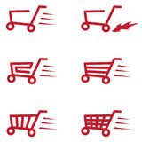 Buy Cart Set Royalty Free Stock Images