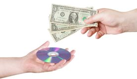 Buy a CD Royalty Free Stock Image
