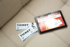 Buy Cinema Tickets online with a Tablet PC Stock Images