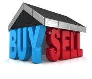 Buy della proprietà e concetto di vendita illustrazione vettoriale