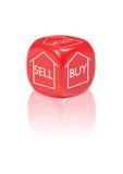 Buy della proprietà, vendita e concetto della stretta immagine stock